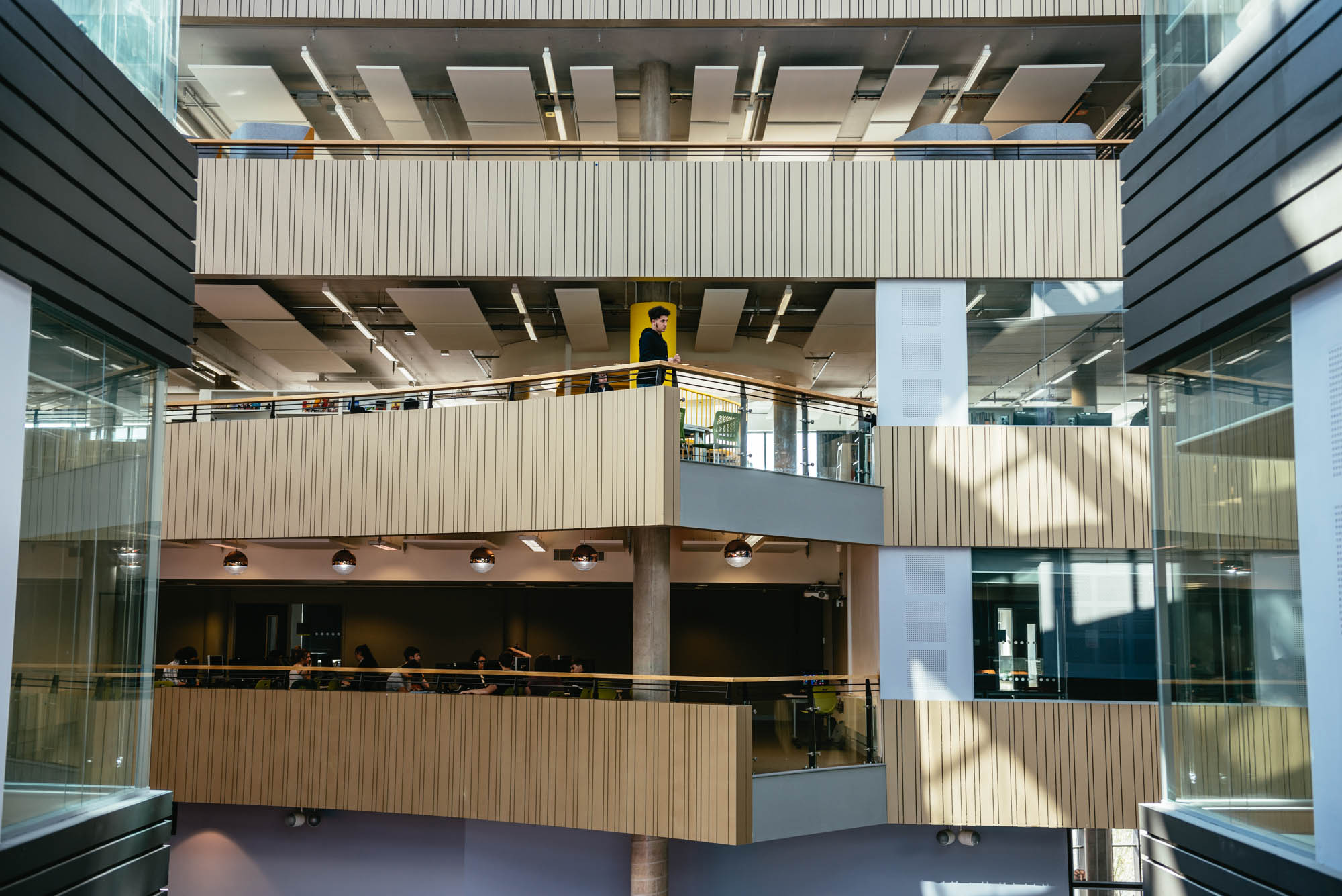 A photo of the interior architecture of a college for further education in cardiff wales