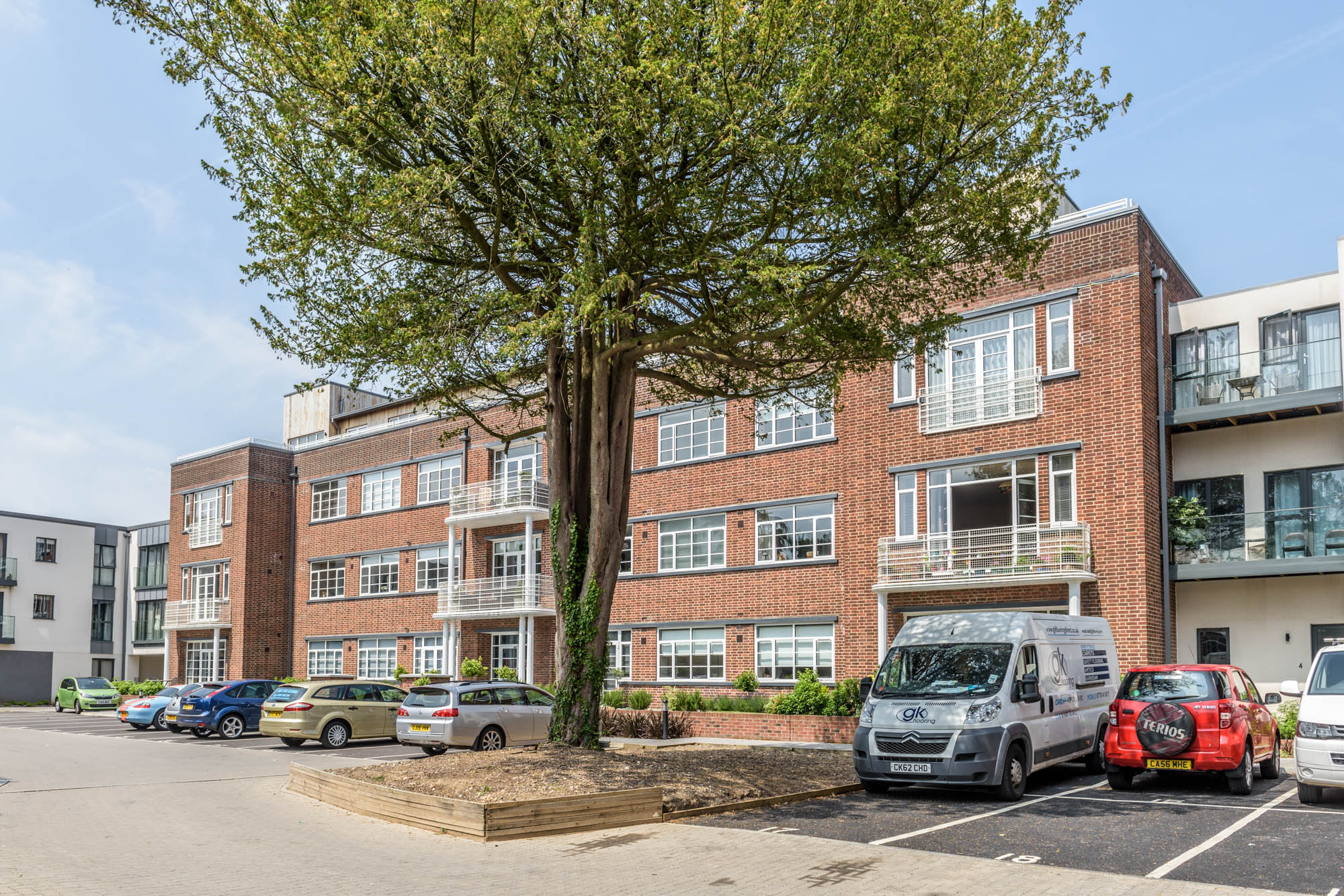 A photo of the exterior of a hospital converted to apartments in cardiff