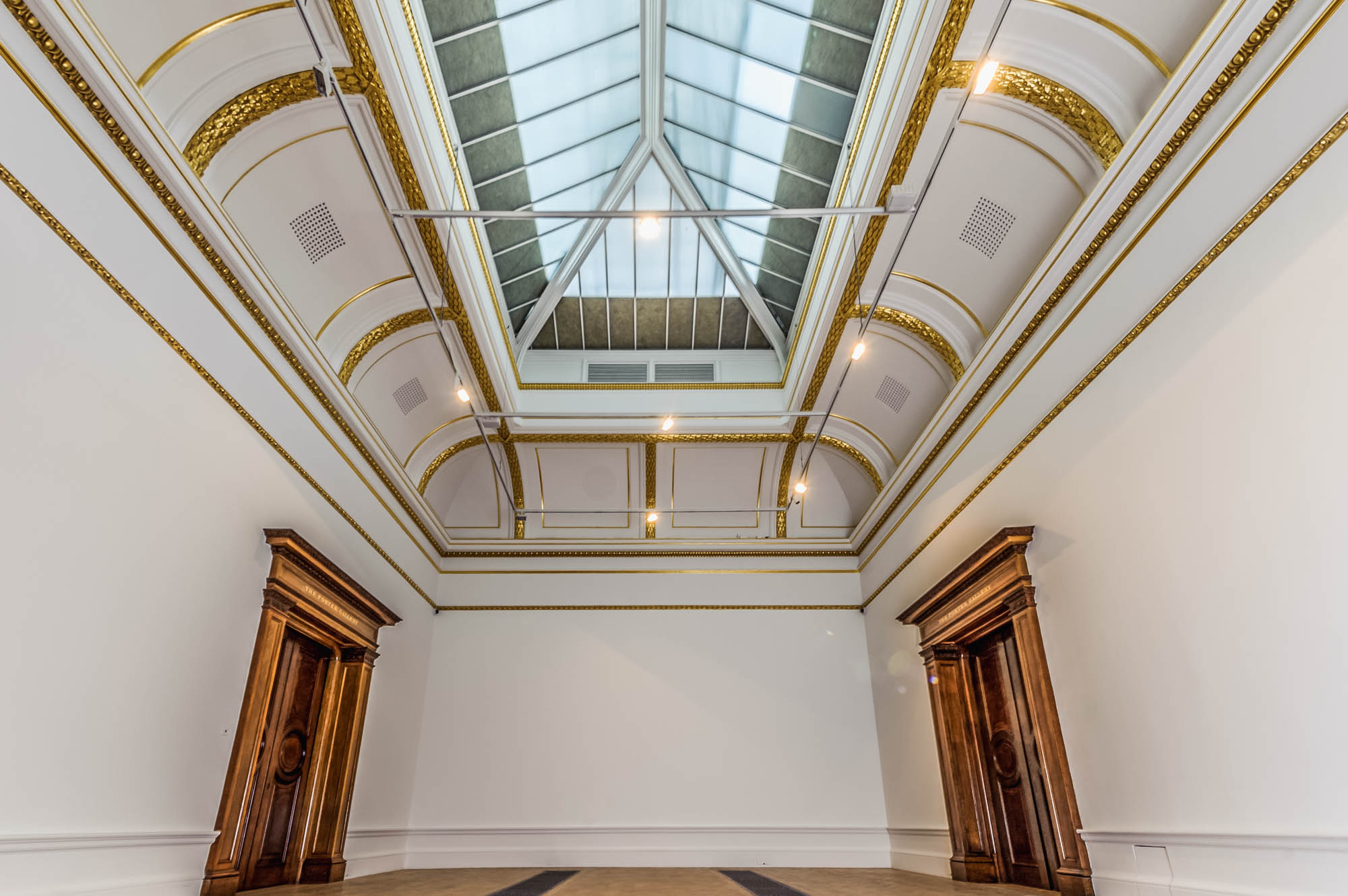 A photo of the interior of a gallery at the royal academy of arts