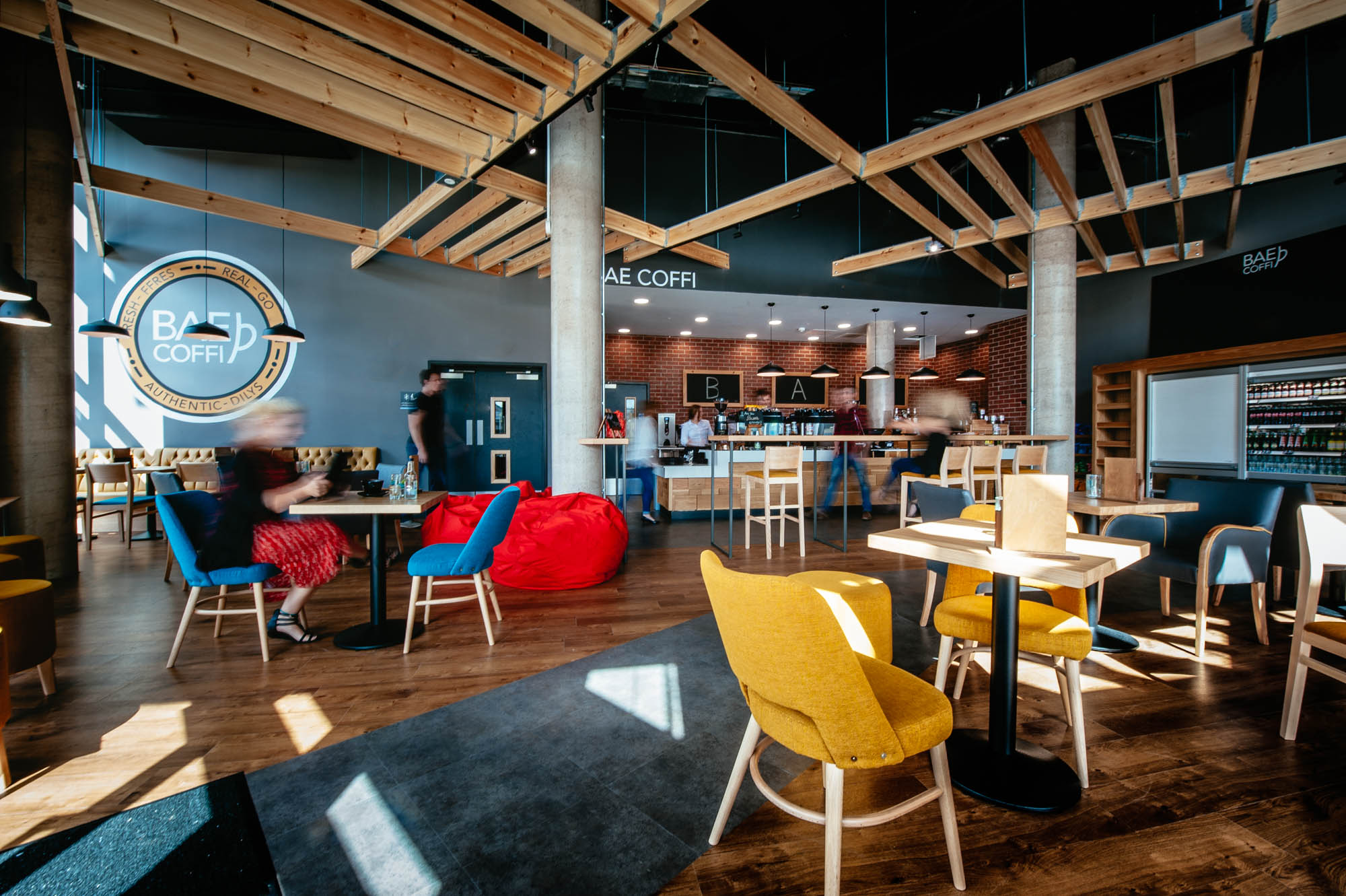 A photo of the interior of a coffee shop