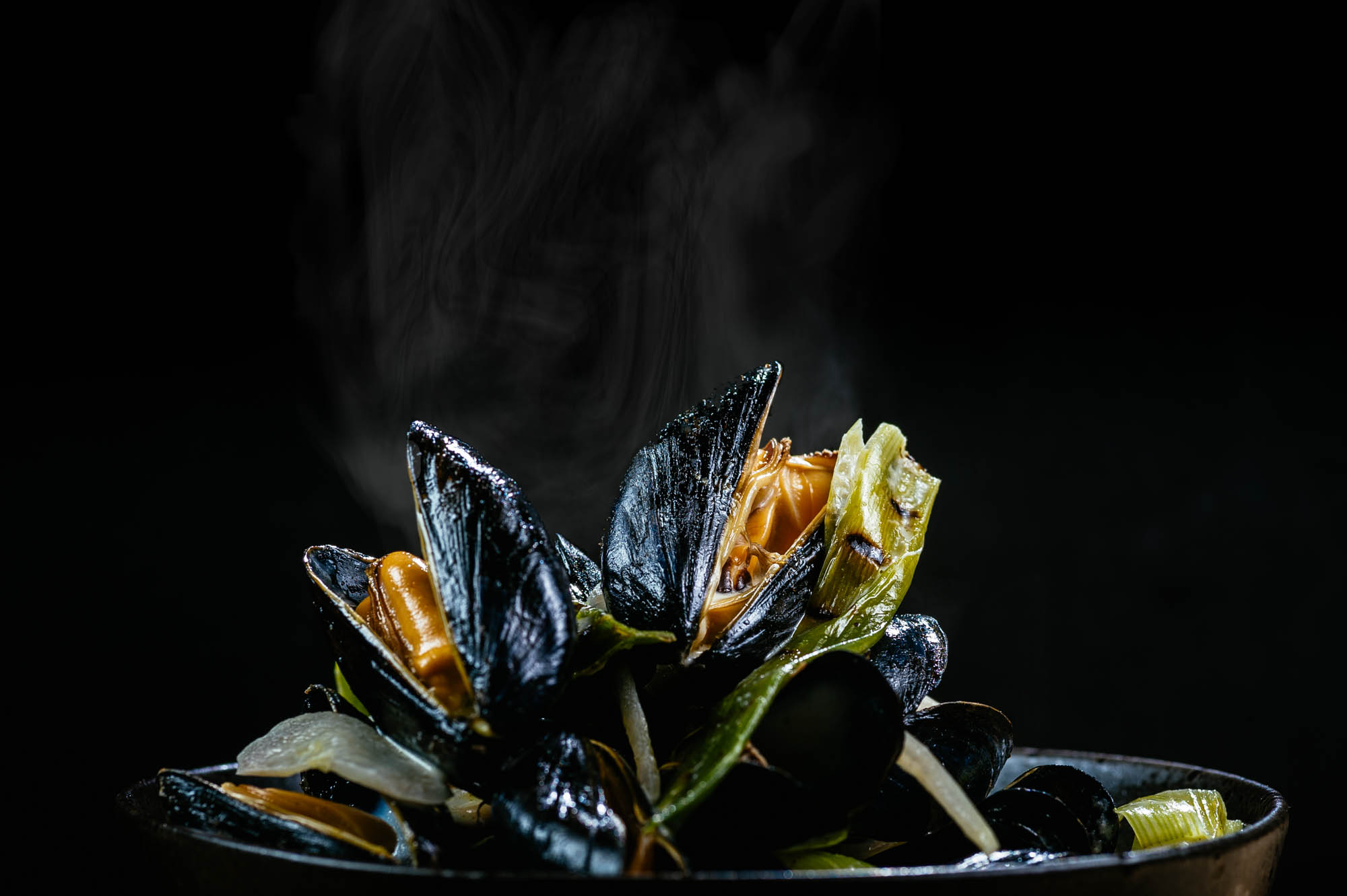 A Photo of steaming muscles